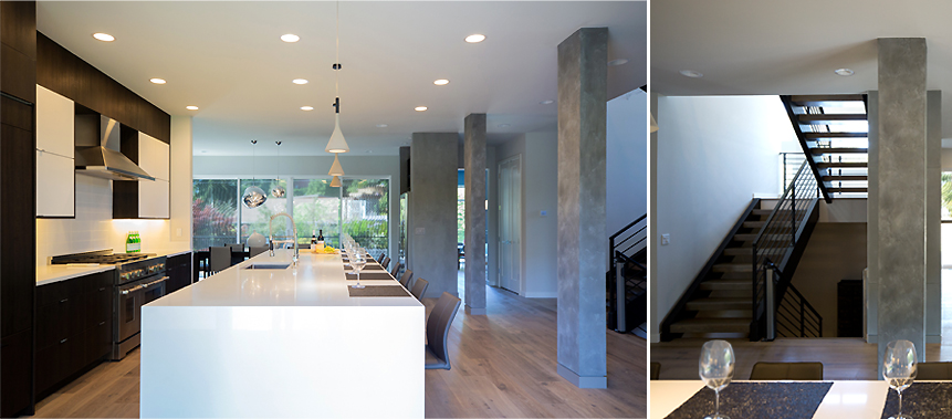 Kirkland, WA, Private Residence Design: Kitchen Columns
