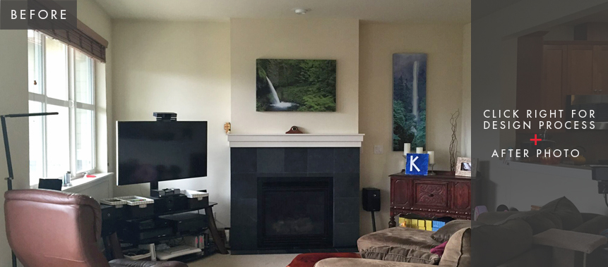 Issaquah Home Remodel: Living Room Before