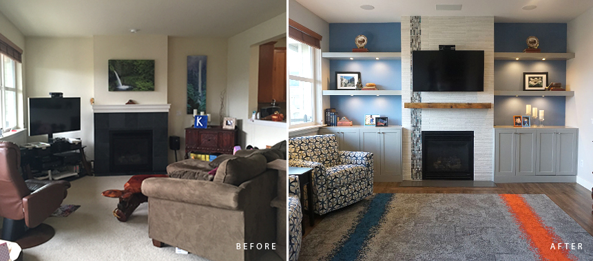 Issaquah Home Remodel: Living Room Before & After