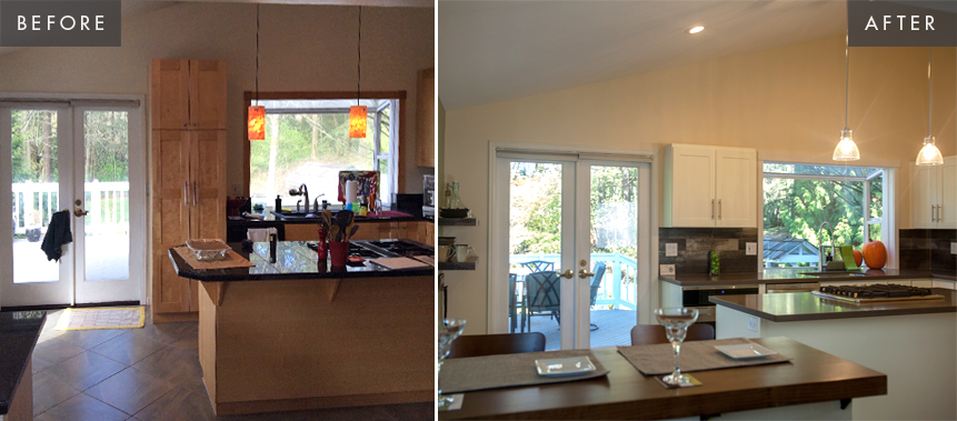 BELLEVUE PRIVATE RESIDENCE: KITCHEN Before & After