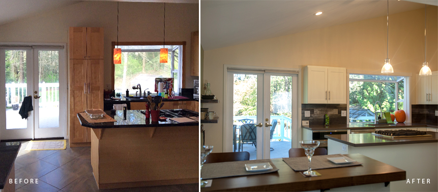 BELLEVUE PRIVATE RESIDENCE: KITCHEN DESIGN Before & After