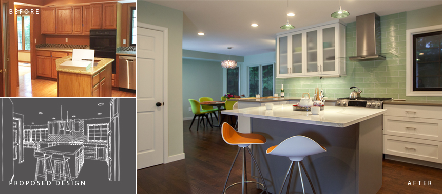 Redmond Home Remodel: Kitchen Before & After