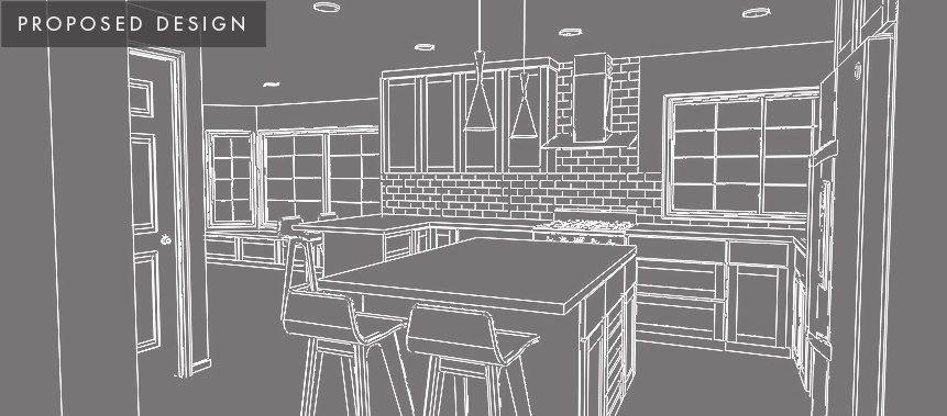 Redmond Home Remodel: Kitchen Proposed Design
