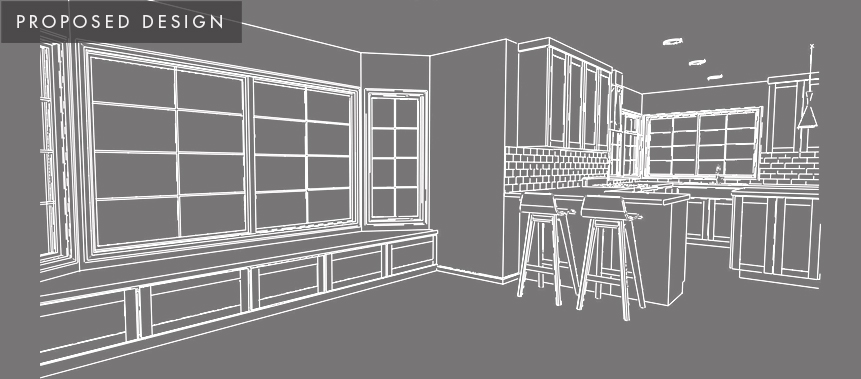 Redmond Home Remodel: Dining Room Proposed Design