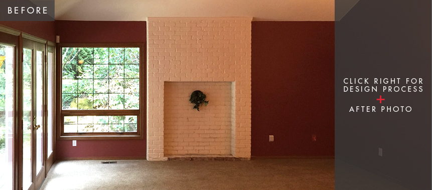 Redmond Home Remodel: Living Room Before