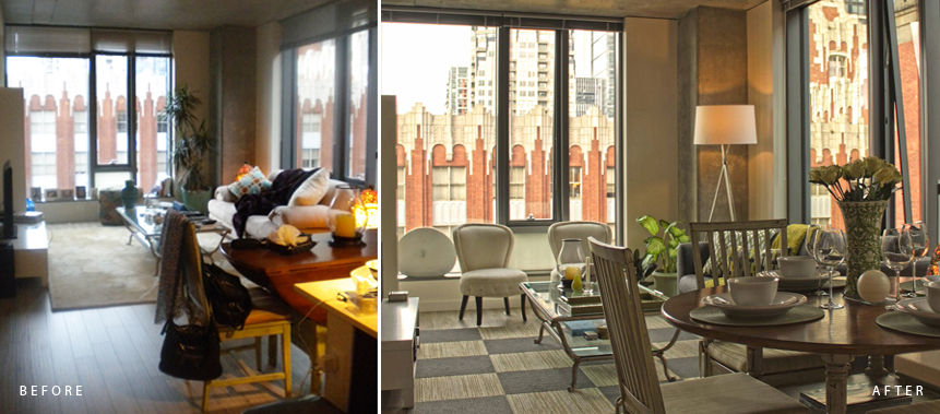 BEFORE & AFTER: COMPLETE TRANSFORMATION TO CLARITY, COLOR & HARMONY