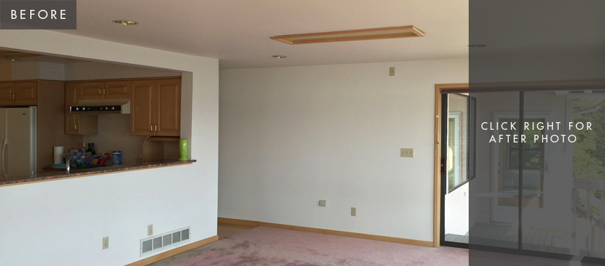 Kirkland, WA, Home Remodel: Family Room/Dining Room -- Before