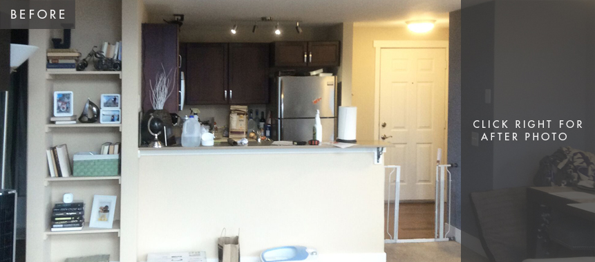 Seattle Condo Remodel: Kitchen Before