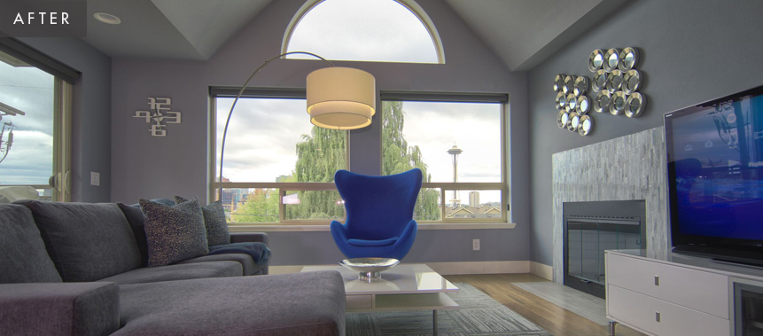Seattle Condo Remodel: Living Room After