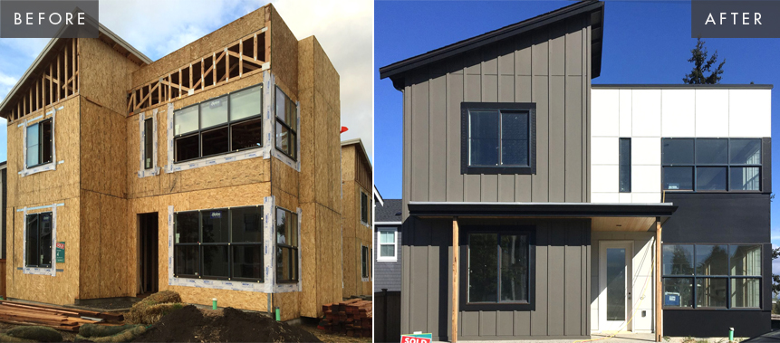 Magnolia New Construction: Exterior Before & After