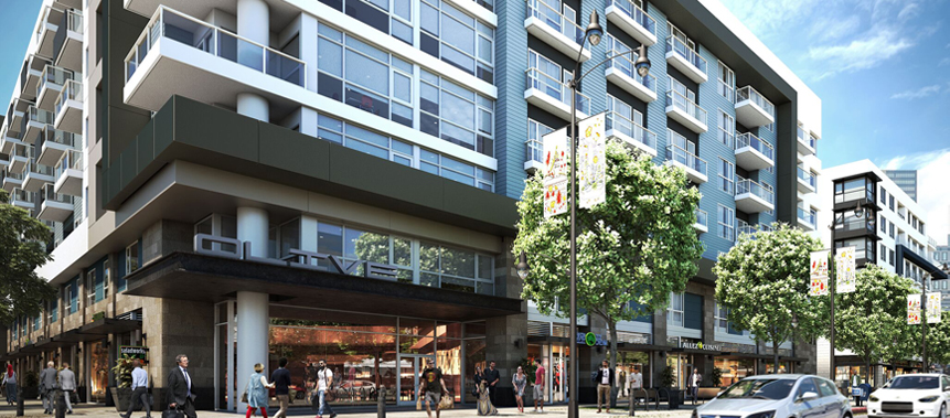 Olive Apartments and Retail Design