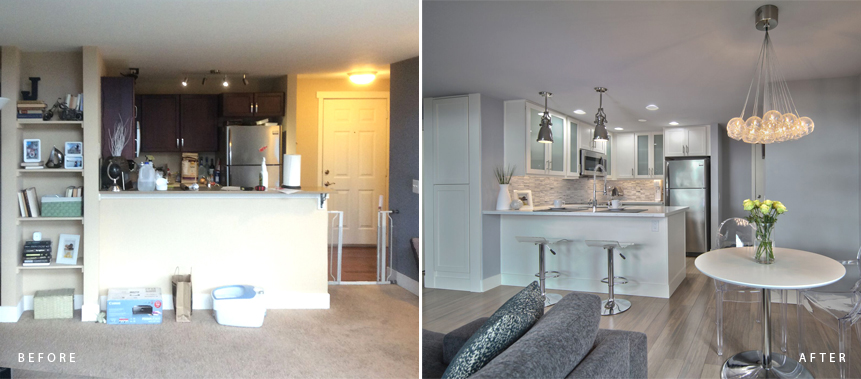 CONDO DESIGN & REMODELING PROJECT: Before & After