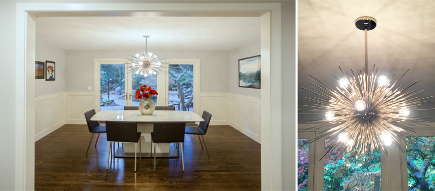 Bellevue Home Remodel: Dining Room Lighting Fixtures