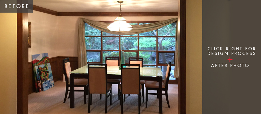 Bellevue Home Remodel: Dining Room Before