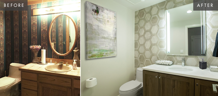 Bellevue Home Remodel: Powder Room Before & After