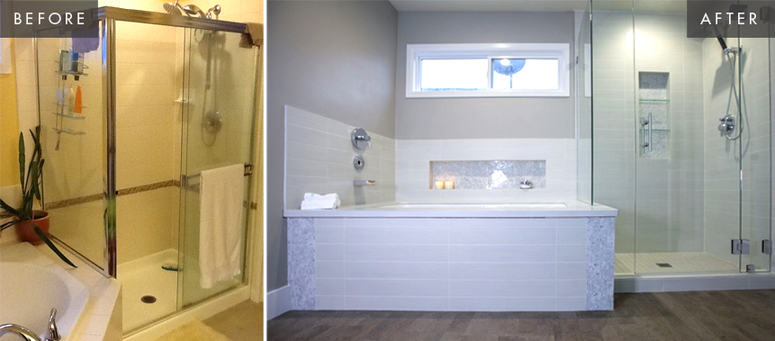 Sammamish Bathroom Remodel: Tub Before & After