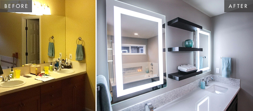 Sammamish Bathroom Remodel: Vanity Before & After