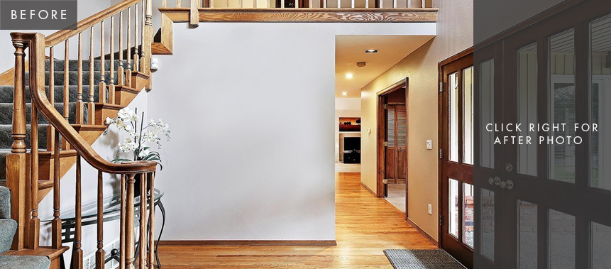 Redmond Home Remodel: Entry Before