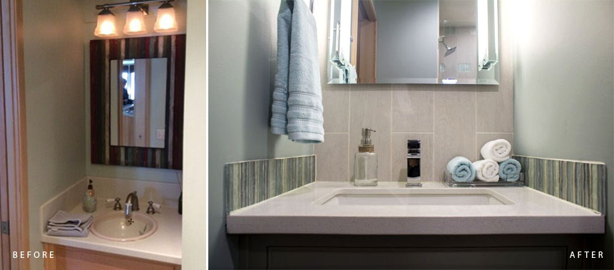 BEACH HOUSE: BATHROOM DESIGN & REMODELING PROJECT Before & After
