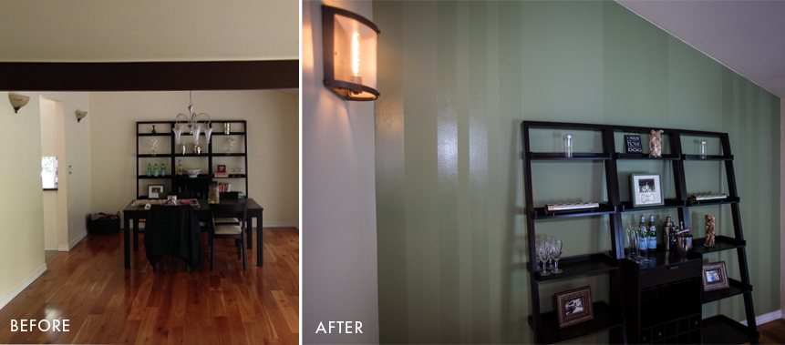 Dining Room Design: Before & After Painting