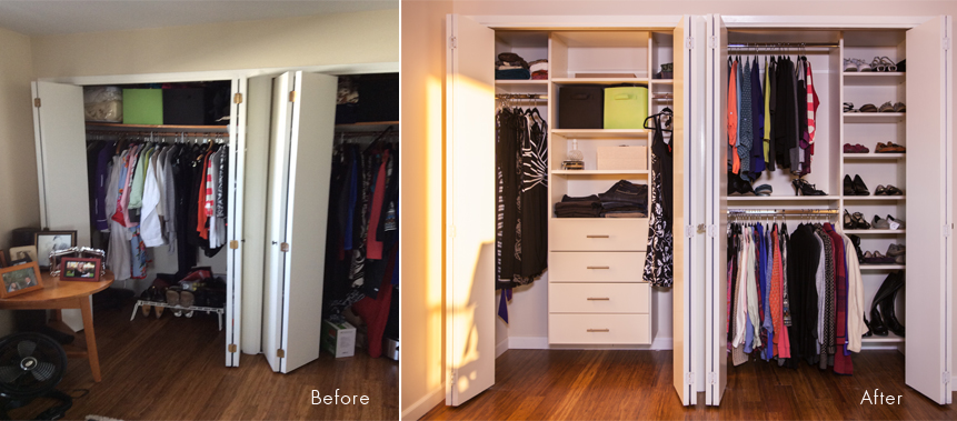 Closet Organizing: Before & After