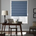 Blue Roman Shades for a Pop of Color
