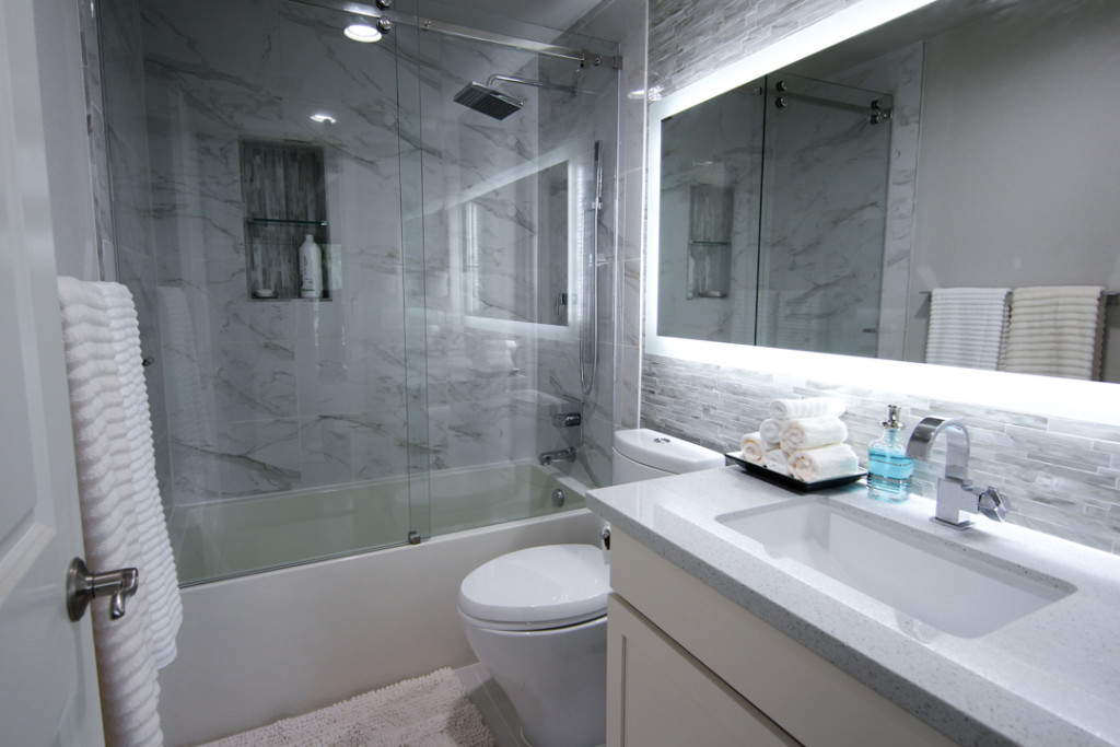 Transformation of function & style Bathroom remodel