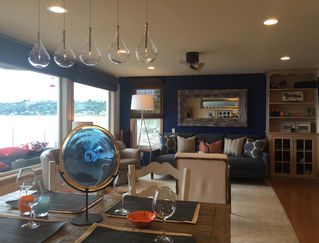 The Remodeled Living Room on the Water - Home Remodeling