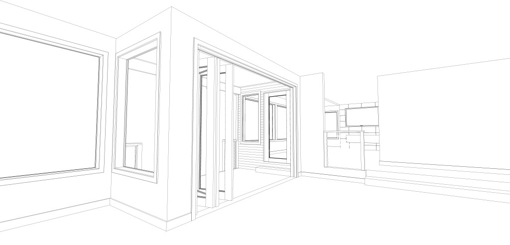 Home Remodeling - Big Nano doors leading to the waterfront