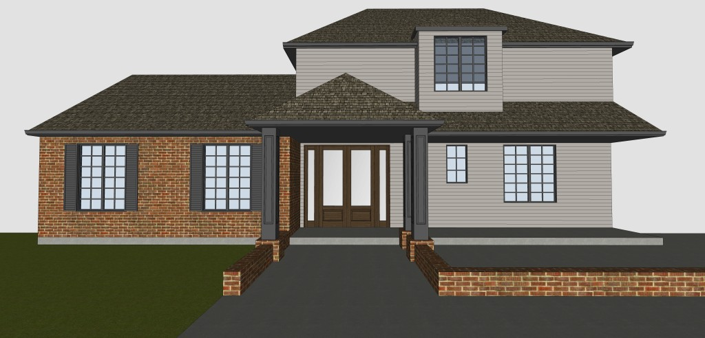 Color scheme - traditional exterior home remodeling