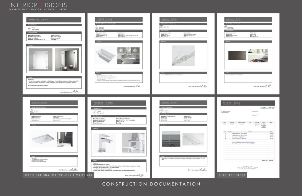 Construction Documentation Specifications in our Design Process