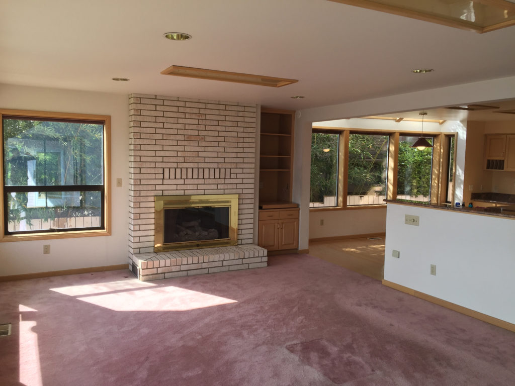 Family Room BEFORE